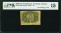 Fractional Currency:Second Issue, Milton 2R10.3d Inverted Back Fr. 1246 10¢ Second Issue PMG Choice Fine 15.. ...