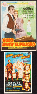 """Movie Posters:Western, High Noon & Other Lot (CB Films, 1953). Very Fine. Spanish Heralds (2) (4.5"""" X 6"""" & 3.5"""" X 5""""). Western.. ... (Total: 2 Items)"""