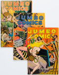 Golden Age (1938-1955):Adventure, Jumbo Comics #83, 87, and 103 Group (Fiction House, 1946-47) Condition: Average VG.... (Total: 3 )