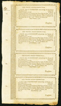 Colonial Notes:Connecticut, Connecticut Treasury Certificates £10-£10-£10-£10 May 14, 1778 Anderson CT-11-11-11-11 Uncut Sheet Crisp Uncirculated.. ...