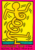 Prints & Multiples, After Keith Haring . Montreux Jazz Festival, poster, 1983. Screenprint in colors on smooth wove paper. 39-1/4 x 27-1/2 i...