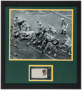 Autographs:Index Cards, Bart Starr Signed Cut Ice Bowl Display....