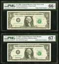 Radar Serial Number 71777717 Fr. 1914-B $1 1988 Federal Reserve Note. PMG Gem Uncirculated 66 EPQ; Radar Serial Number 7...