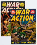 Golden Age (1938-1955):War, War Action #3 and 12 Group (Atlas, 1952-53).... (Total: 2 Comic Books)