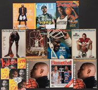 1977-2019 Basketball & Football Hall of Famers Oversized Publications Lot of 11