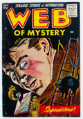 Golden Age (1938-1955):Horror, Web of Mystery #29 (Ace, 1955) Condition: VG/FN....