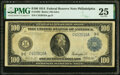 Fr. 1092 $100 1914 Federal Reserve Note PMG Very Fine 25