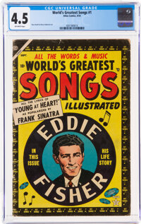 World's Greatest Songs #1 (Atlas, 1954) CGC VG+ 4.5 Off-white pages