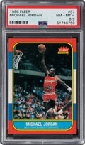 Basketball Cards:Singles (1980-Now), 1986 Fleer Michael Jordan #57 PSA NM-MT+ 8.5....