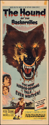 """The Hound of the Baskervilles (United Artists, 1959). Folded, Very Fine-. Insert (14"""" X 36""""). Mystery"""
