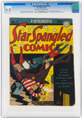 Golden Age (1938-1955):Superhero, Star Spangled Comics #4 (DC, 1942) CGC FN 6.0 Light tan to off-white pages....