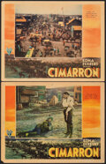 """Movie Posters:Western, Cimarron (RKO, 1931). Overall: Fine/Very Fine. Lobby Cards (2) (11"""" X 14""""). Western.. ... (Total: 2 Items)"""