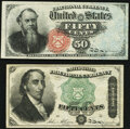 Fractional Currency:Fourth Issue, Fr. 1376 50¢ Fourth Issue Stanton Choice About New;. Fr. 1379 50¢ Fourth Issue Dexter Very Fine-Extremely Fine.. ... (Total: 2 notes)