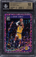 Basketball Cards:Singles (1980-Now), 2018 Donruss Optic Pink Velocity LeBron James #94 BGS Pristine 10 - Serial Numbered 48/79....