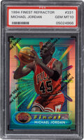 Basketball Cards:Singles (1980-Now), 1994 Finest Refractor Michael Jordan (With Coating) #331 PSA Gem Mint 10. ...