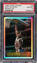 Basketball Cards:Singles (1980-Now), 1996 Topps Chrome Refractor Scottie Pippen #33 PSA Gem Mint 10....