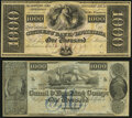 Obsoletes By State:Louisiana, New Orleans, LA- Citizens' Bank of Louisiana $1000 18__ Remainder Crisp Uncirculated;. New Orleans, LA- New Orleans Ca... (Total: 2 notes)