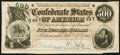 Confederate Notes:1864 Issues, T64 $500 1864 PF-2 Cr. 489 About Uncirculated.. ...