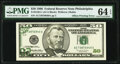 Partial Back to Face Offset Error Fr. 2126-C $50 1996 Federal Reserve Note. PMG Choice Uncirculated 64 EPQ