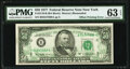 Full Back to Face Offset Error Fr. 2119-B $50 1977 Federal Reserve Note. PMG Choice Uncirculated 63 EPQ