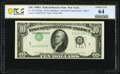 Error Notes:Inverted Third Printings, Inverted Third Printing Error Fr. 2011-B $10 1950A Federal Reserve Note. PCGS Banknote Choice Unc 64.. ...