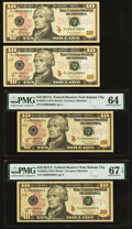 Small Size:Federal Reserve Notes, Rollover Pair 00027999-00028000 Fr. 2045-J$10 2017A Federal Reserve Notes. Choice Crisp Uncirculated; PMG Superb Gem Unc 67 EP... (Total: 4 notes)