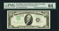 Inverted Third Printing Error Fr. 2011-D $10 1950A Federal Reserve Note. PMG Choice Uncirculated 64