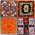 """Luxury Accessories:Accessories, Hermès Limited Edition 140cm Giant Patchwork Silk Scarf. Condition: 2. 53"""" Width x 53"""" Length. ..."""