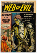 Golden Age (1938-1955):Horror, Web of Evil #12 (Quality, 1954) Condition: VG+....