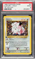 Non-Sport Cards:Singles (Post-1950), 1999 Pokémon First Edition Clefairy (Holo) #5 ...