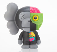 KAWS X BAPE Dissected Milo (Black), 2011 Painted cast vinyl 7-1/4 x 5-3/4 x 5 inches (18.4 x 14.6