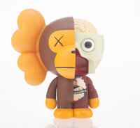 KAWS X Bape Dissected Milo, 2011 Painted cast vinyl 7-1/4 x 5-3/4 x 5 inches (18.4 x 14.6 x 12.7