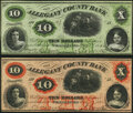 Obsoletes By State:Maryland, Cumberland, MD- Allegany County Bank $10 (2) 1861-64 G8b; G8d Choice About Uncirculated. . ... (Total: 2 notes)