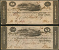 Obsoletes By State:Kentucky, Carlisle, KY- Farming & Commercial Bank of Carlisle $3; $5 Post Notes 1819 G22a; G24a About Uncirculated; Extremely Fine.... (Total: 2 notes)