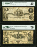 T36 $5 1861 PF-4 Cr. 278 PMG Very Fine 25; T37 $5 1861 PF-2 Cr. 285 PMG Very Fine 20. ... (Total: 2 notes)