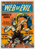 Golden Age (1938-1955):Horror, Web of Evil #3 (Quality, 1953) Condition: VG/FN....