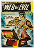 Golden Age (1938-1955):Horror, Web of Evil #7 (Quality, 1953) Condition: VG+....