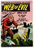 Golden Age (1938-1955):Horror, Web of Evil #11 (Quality, 1954) Condition: VG/FN....