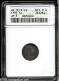 Early Half Dimes: , 1795 H10C --Damaged--ANACS. VG Details, Net Good 4. V-2, ...