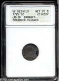 Early Half Dimes: , 1795 H10C --Damaged, Corroded, Cleaned--ANACS. VF Details, ...
