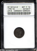 Early Half Dimes: , 1795 H10C --Corroded, Damaged--ANACS. VF Details, Net Fine ...