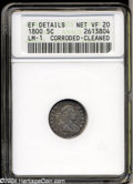 Early Half Dimes: , 1800 H10C --Corroded, Cleaned--ANACS. XF Details, Net VF20.