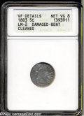 Early Half Dimes: , 1803 H10C Large 8--Damaged, Bent, Cleaned--ANACS. VF ...