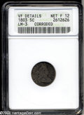 Early Half Dimes: , 1803 H10C Large 8--Corroded--ANACS. VF Details, Net Fine 12....