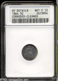 1864 H10C --Corroded, Cleaned--ANACS. VF Details, Net Fine12. The surfaces are retoning a light to medium silver-gray, w...