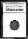 Early Dimes: , 1804 10C 14 Stars on Reverse AG3 ANACS. JR-2, R.5. UNITED ...