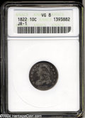 Bust Dimes: , 1822 10C VG8 ANACS. JR-1, R.3. The only dies known for ...