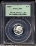 Proof Roosevelt Dimes: , 1950 10C PR68 Cameo PCGS. A lovely and well preserved ...