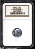 Proof Roosevelt Dimes: , 1955 10C PR69 W Cameo NGC. Essentially white with the ...