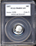 Proof Roosevelt Dimes: , 1957 10C PR68 Deep Cameo PCGS. Deep watery fields and ...